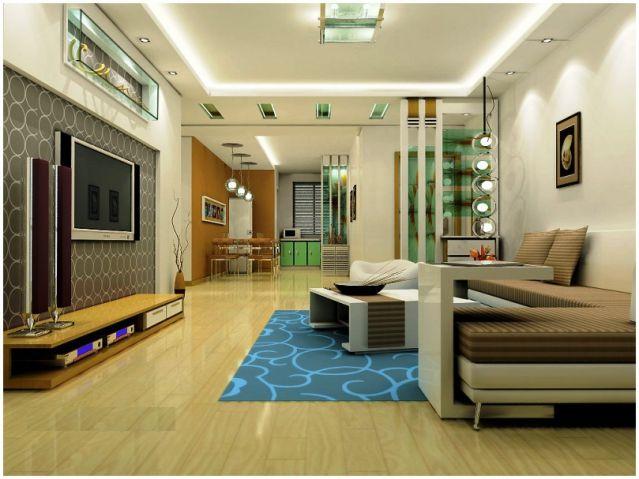 Mẫu thiết kế phòng khách chung cư đẹp nhất hiện nay--Hình 3