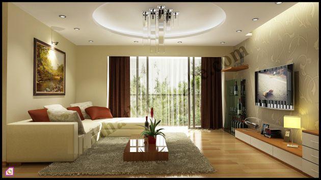 Mẫu thiết kế phòng khách chung cư đẹp nhất hiện nay--Hình 2